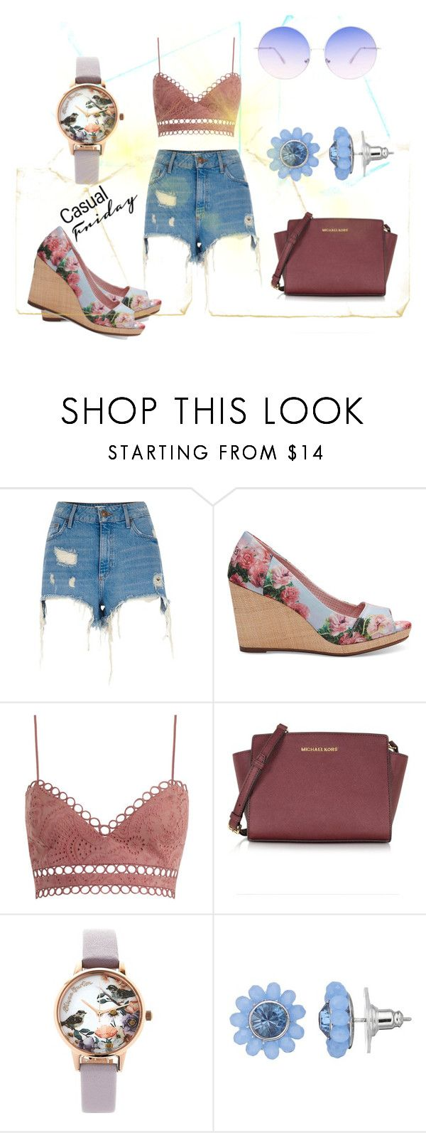 """497"" by theglue on Polyvore featuring River Island, TOMS, Zimmermann, Michael Kors, Olivia Burton, Simply Vera and Skinnydip"