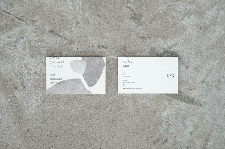 ALLT Experimental Internal Stationery. #businesscards