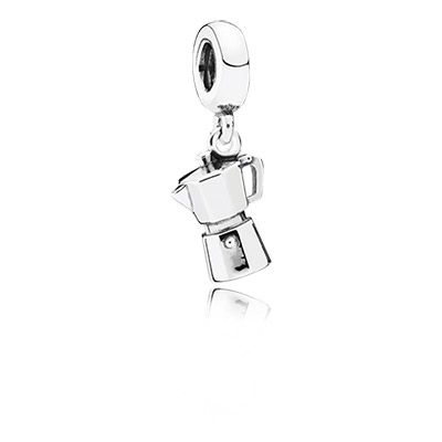 This authentic and charming reproduction of a traditional espresso pot will be treasured by all coffee lovers. Make it a sweet memento of a trip to Italy – or to simply evoke warm memories of time spent at your favorite café. #PANDORA #PANDORAcharm