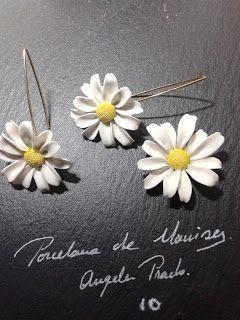 Tocados de novia. Joyería Cerámica. Flores de porcelana.: JOYERIA DE CERAMICA (MANISES)
