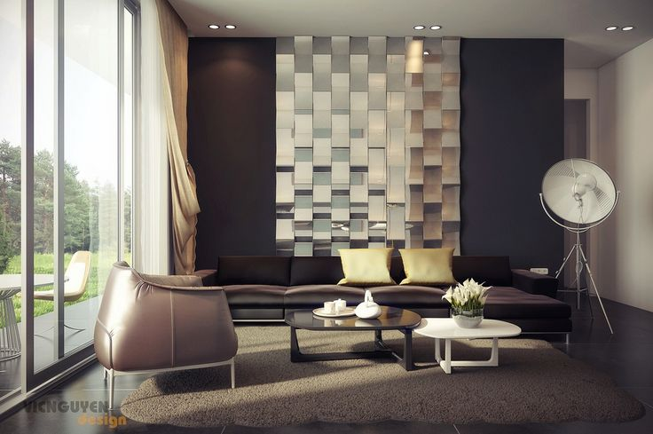 Palette Living With Mirrored Feature Wall Interior