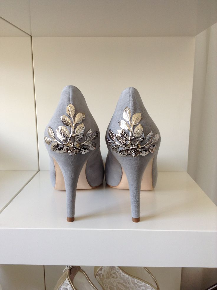 Harriet Wilde - Sassi grey suede Silver Rose bespoke
