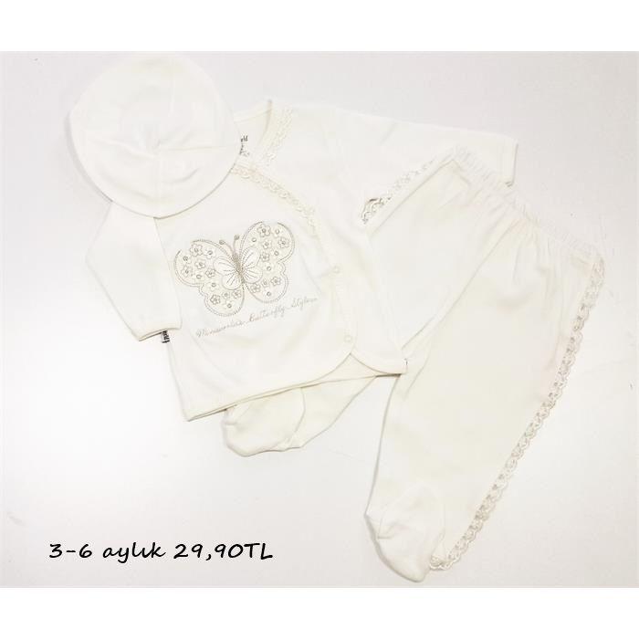 Miniworld Kelebekli Üç Parça Bebek Takımı  Ürün bedeni 3-6 aylıktır.  %100 cotton #bebek #bebekmağazası #denizli #bebekkıyafetleri #bebektakımları #ertuğannebebek #onlinesatış #kapıdaödemeimkanı  ürün linki: http://www.hepsinerakip.com/miniworld-kelebekli-uc-parca-bebek-takimi