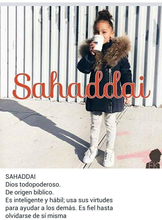 Nombres de niñas, significado del nombre Sahaddai