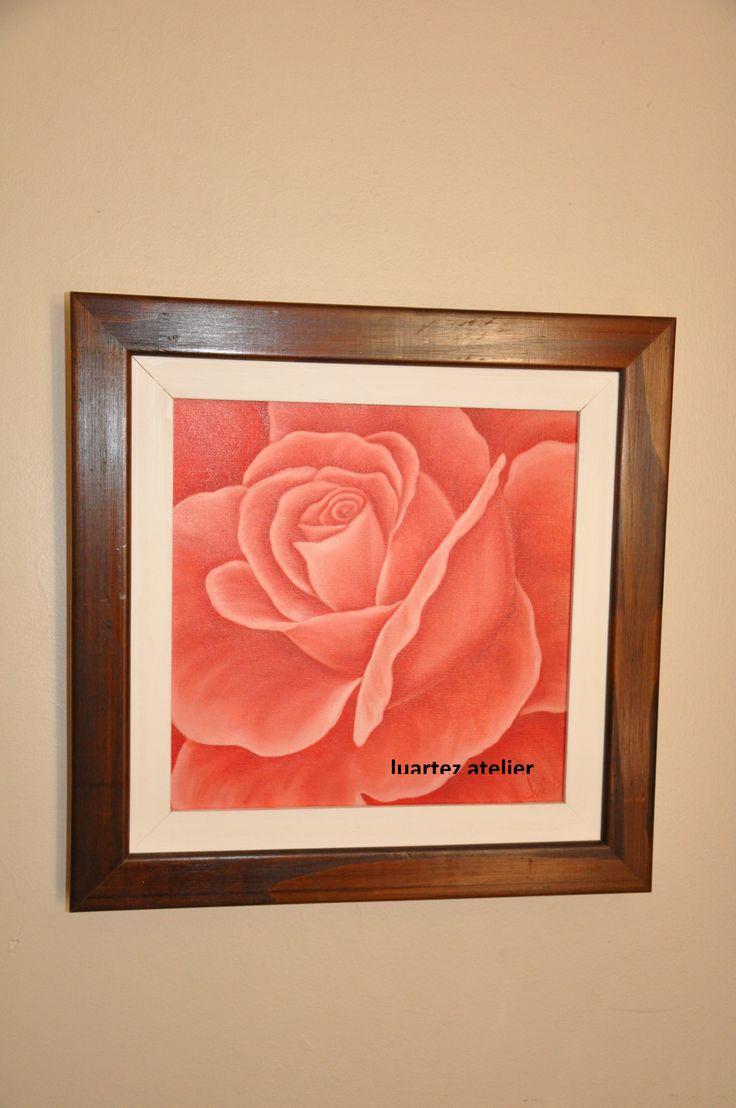 Tela 30 x 30 cm, tinta óleo, fica bem em qualquer cantinho de parede e ambiente.