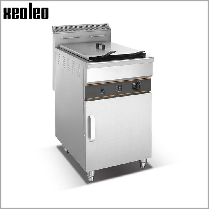 Xeoleo Commercial Fryer 48L+48L Gas French fries machine Stainless steel Potato chip machine Double tanks Chicken Fryer for KFC #Affiliate