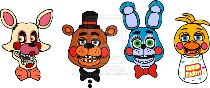 Mangle Toy Freddy Toy Bonnie and Toy Chica