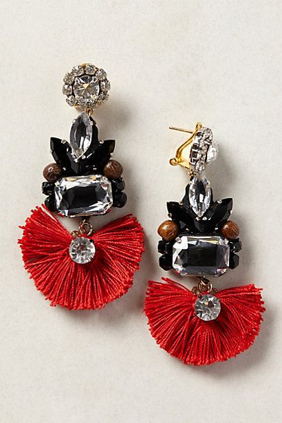 Tejo Fringed Drops - anthropologie.com
