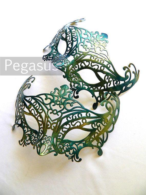 Masquerade Mask base (1 Mask) Sea Nymph GREEN DIY Ballroom masquerade mask for a Mardi Gras, Halloween, Wedding, New year or Costume Party
