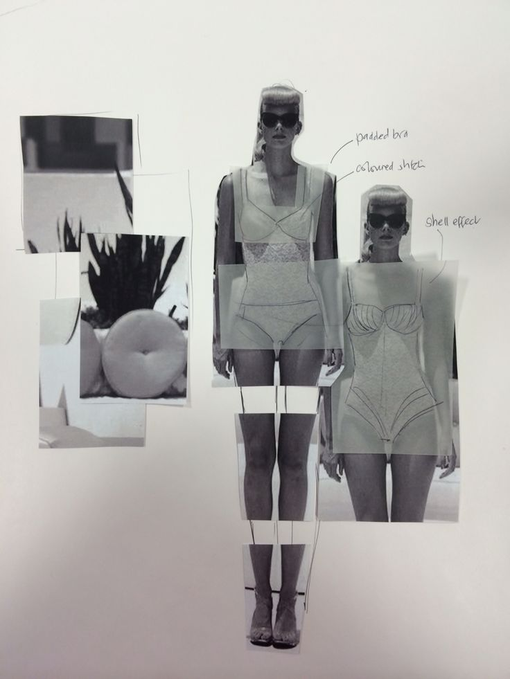 Fashion Sketchbook - fashion design development // Fashion student portfolio, Sunderland University
