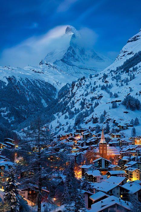 Zermatt - Winter's Night   (by: Brian Jannsen)