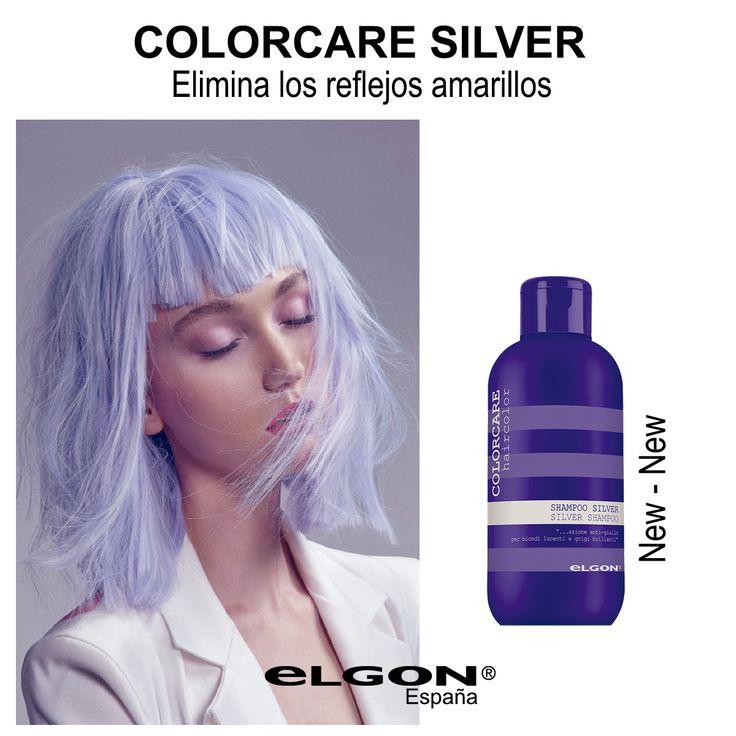 Colorcare Silver Shampoo pH6  Champú anti efecto amarillo, limpia delicadamente resaltando los reflejos fríos del cabello rubio o con canas, tanto natural como teñido.  #new #novedad #canas #rubio #hair #hairstyle #tendencia #pigmentosvioletas #extractoarandanos #luminosidad #neutralizaefectoamarillo #brillo #colorcare #elgon #elgonespaña