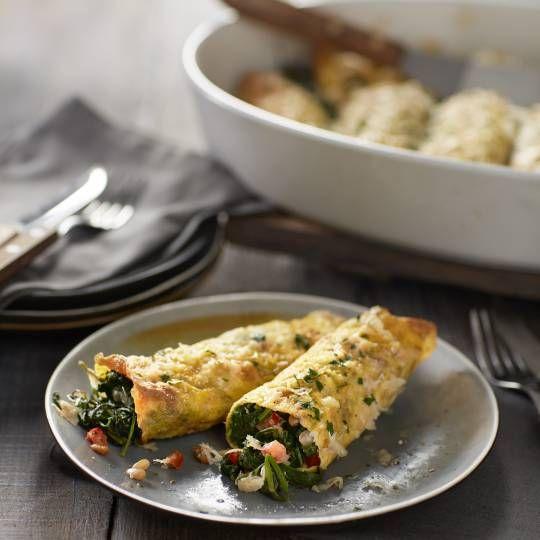 Spinazierolletjes (omelet) uit de oven