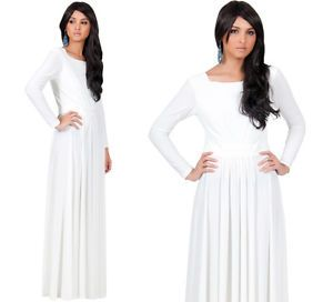 white maxi dresses with sleevesNew Womens Off White Round Neck Long Sleeve Cocktail Plus Size xvbTXmms