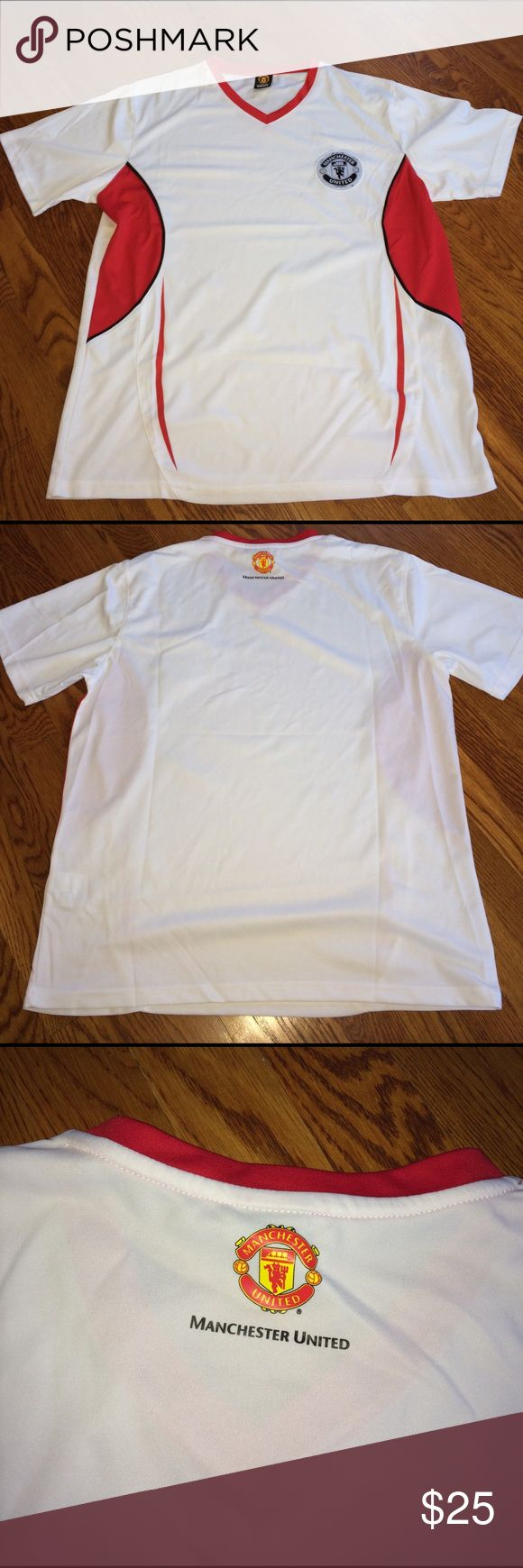 Manchester United Shirt Size M. Manchester United official merchandise soccer shirt. 100% polyester. In great condition!! Rhinox Shirts Tees - Short Sleeve