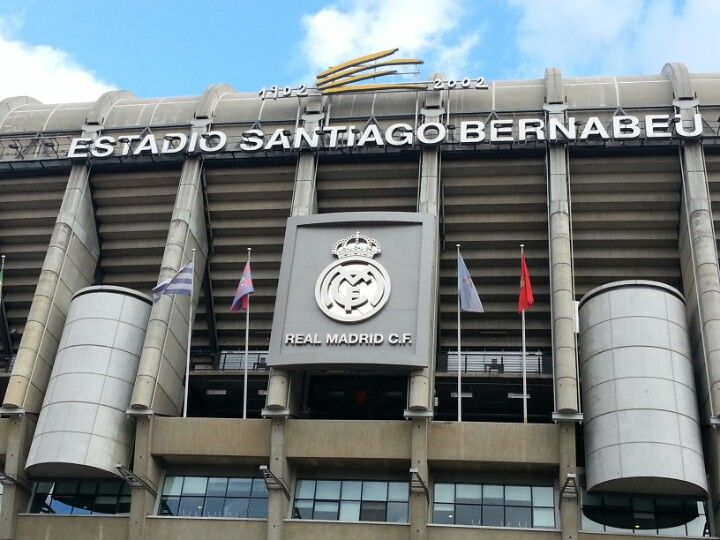 The Santiago bernabeu Football Stadium is Real Madrid's home ground.