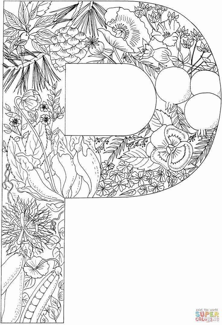 Adult Coloring Pages Letters Lovely Ausmalbild Der ...