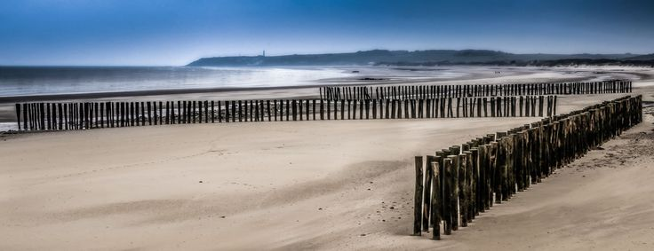 Stakes on the opale coast, France by Marc Van den Bergh on 500px