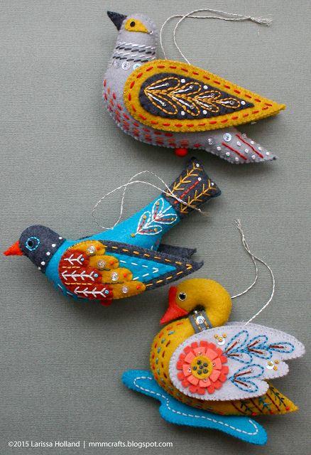 mmmcrafts: Presentes artesanais 2015: Cisne a-natação e dois ornamentos de reposição para Robyn