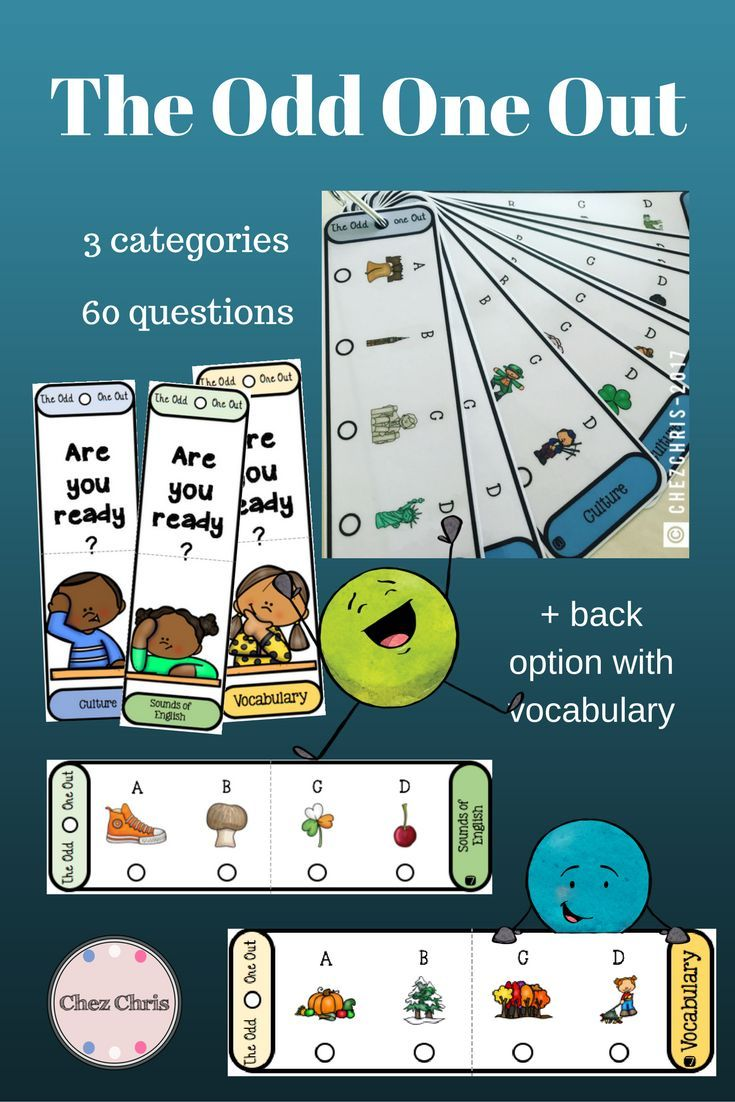 The Odd One Out Game – Culture, Phonics and Vocabulary