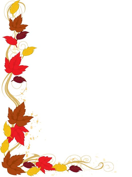 Clip Art of an Autumn Leaf Border