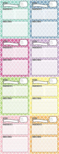 Best Printable Recipe Cards Images On   Printable