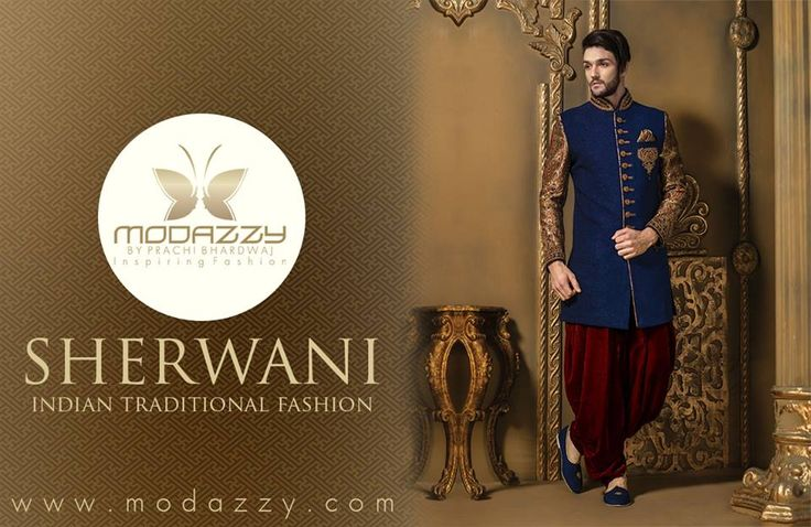 Let's talk about Indian Traditional wear for Men today and that is Sherwani. A symbol of rich Indian Culture fashion with royal elegance and style.  The few types of sherwanis given below: Wedding sherwani  Groom sherwani  Designer sherwani