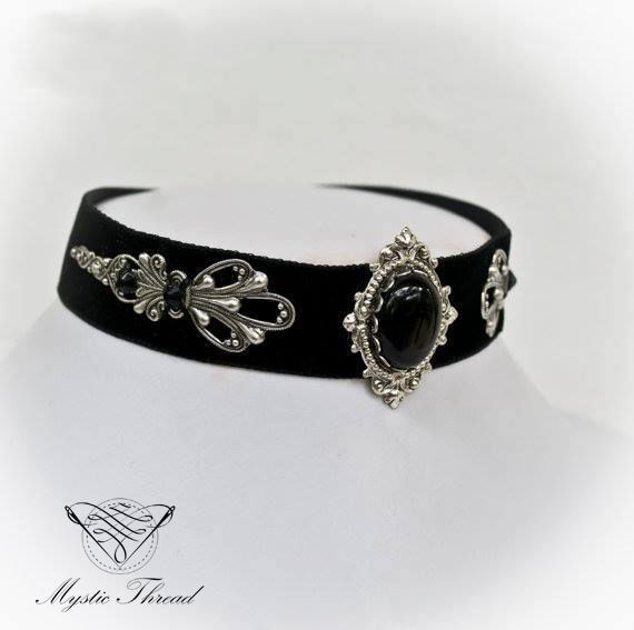 Black velvet gothic victorian choker with jet black gem by Mystic Thread / e-shop: www.mysticthread.com / facebook: www.facebook.com/mysticthread.ltd / Photo by Undefiled Photography & Editing #mysticthread #choker #velvetchoker #blackchoker #gothicchoker #victorianchoker #gothicaccessories #victorianaccessories #jewely #accessories #gothic #victorian #gothicphotos #victorianphotos #gothicjewelry #victorianjewelry #frame
