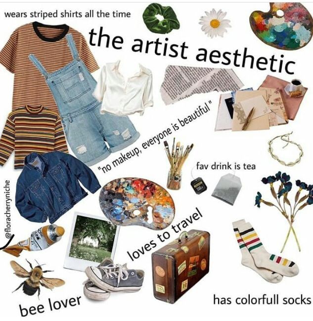 Artist Aesthetic Aesthetic Artist Artist Outfit Mood Clothes Artsy Outfit