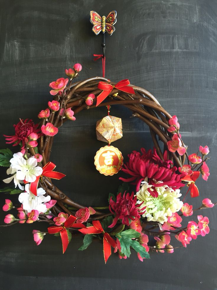 Chinese New Year Wreath | Chinese New Year | Pinterest ...