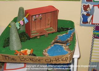 Little Homeschool on the Prairie: BoxCar Children Diorama