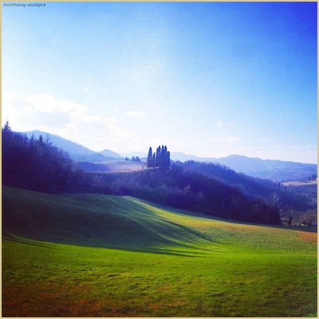 """""""Un soffio di primavera"""". La #PicOfTheDay #turismoer di oggi ammira i colori delle #colline di #SassoMarconi (#Bologna) in queste miti giornate di gennaio. Complimenti e grazie a @bellaj4ck / """"A spring's blow"""". Today's #PicOfTheDay #turismoer admires the colors of #SassoMarconi's #hills (#Bologna) in these mild days of January. Congrats and thanks to @bellaj4ck"""