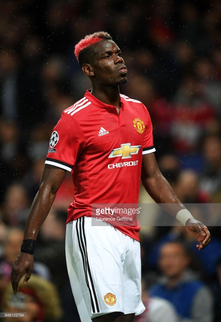 Paul Pogba of Manchester United reacts during the UEFA Champions League Group A match between Manchester United and FC Basel at Old Trafford on September 12, 2017 in Manchester, United Kingdom.