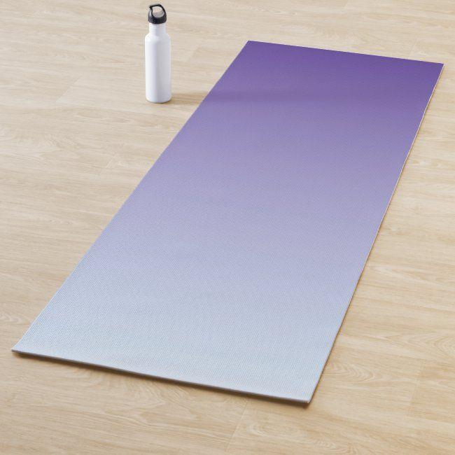 Purple Fade To Blue 1 Side Yoga Mat Zazzle Com In 2020 Yoga Mats Design Yoga Mat Cork Yoga Mat