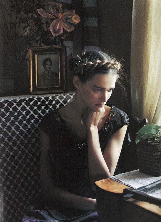 Carmen Kass by Yelena Yemchuk for Vogue Nippon, October 2005