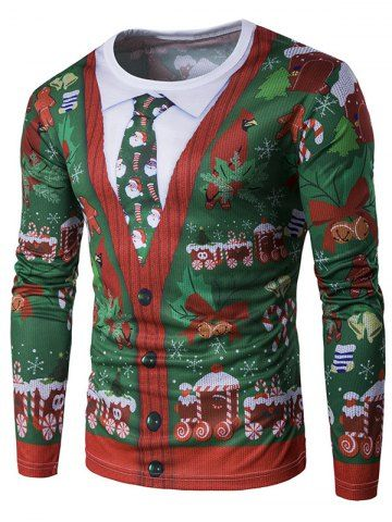 GET $50 NOW | Join RoseGal: Get YOUR $50 NOW!http://www.rosegal.com/men-s-long-sleeves/crew-neck-3d-christmas-tie-914048.html?seid=7754273rg914048