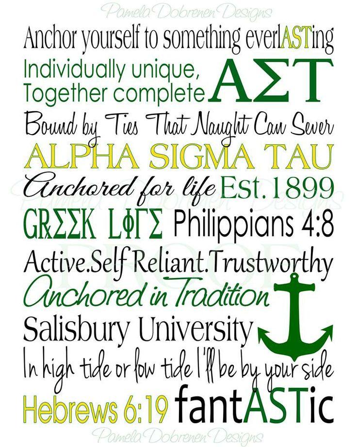 Alpha Sigma Tau print I had made for Erica.  Look for Pamela Dobrenen Designs on Facebook.