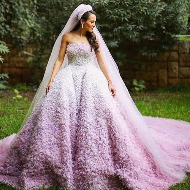 Absolutely love this purple did-dyed wedding dress.