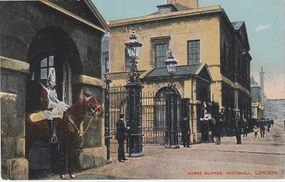 Unknown British Publisher Postcard - Horse Guards Whitehall London  c1910