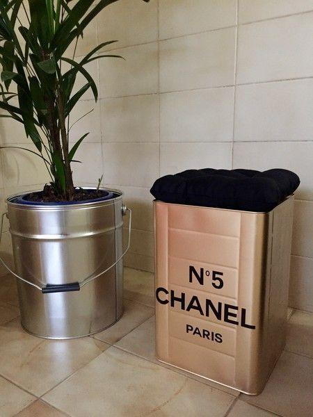 Mini Tonel Chanel Quadrado Gold