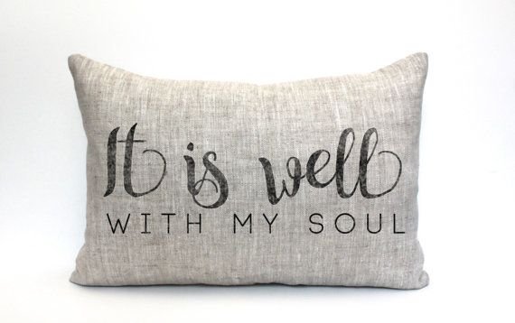it is well with my soul pillow throw pillow word by coverLove