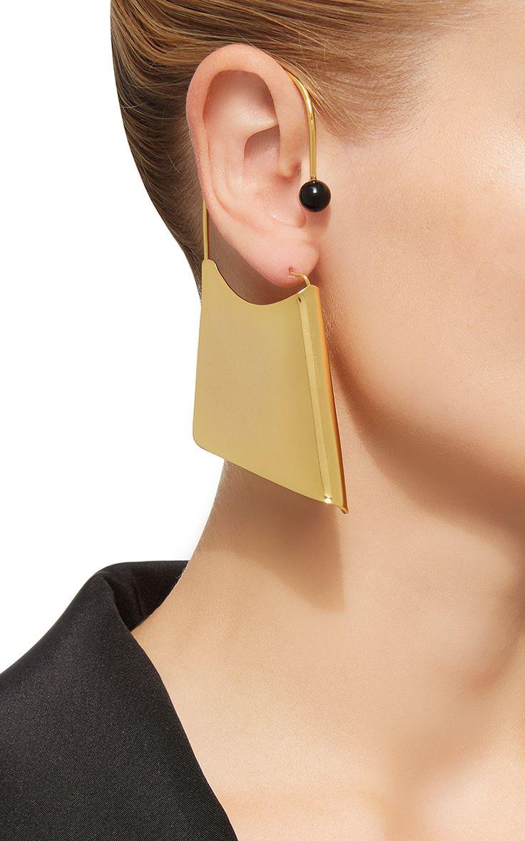 Paula Mendoza A-Rete Earrings In Onyx
