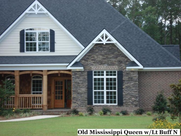 Accents for red brick homes scroll down for more images for Houses with stone accents