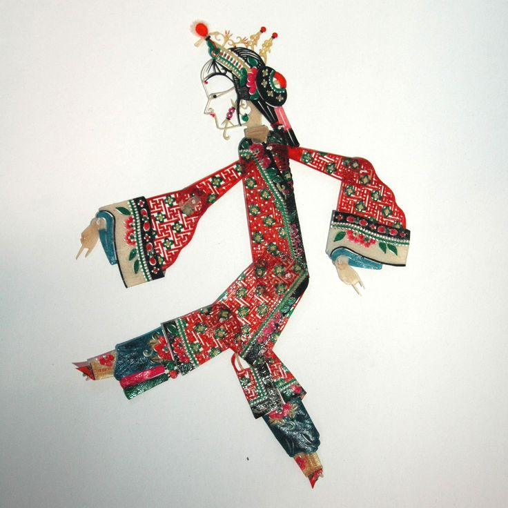 Chinese shadow puppet.