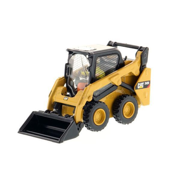 Diecast Caterpillar 242D Compact Skid Steer Loader in 1:50 Scale by Diecast Masters DM85525. See Norscot, CCM, Tonkin Replicas and NZG for Other CAT Models