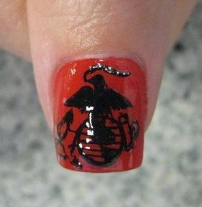 95 best marine corps nail art images on pinterest marine corps nails desings with marines design prinsesfo Images