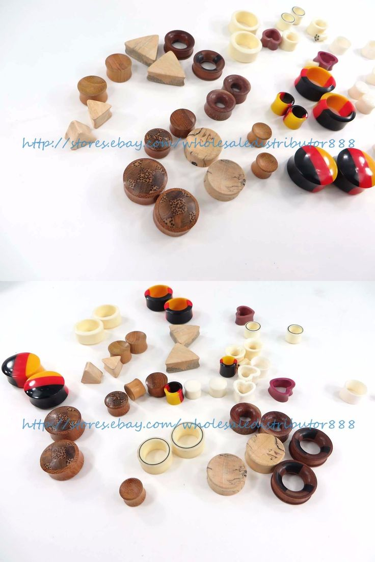 Other Wholesale Body Jewelry 51011: $1.25/Pair, 40 Pairs Ear Gauges Ear Plugs Body Piercing Jewelry Wooden And Bulk BUY IT NOW ONLY: $50.0