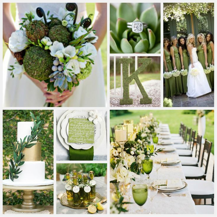Pantone's Fall 2014 color of the year is {Cypress Green}, and what better way to showcase this elegant shade than at your wedding! We envision lush garden foliage in a romantic outdoor atmosphere. #ShopIDC