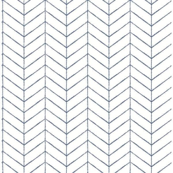 Chesapeake Bison Navy Herringbone Paper Strippable Roll Covers 56 4 Sq Ft 3118 25096 The Home Depot Herringbone Wallpaper Chevron Wallpaper Farmhouse Wallpaper
