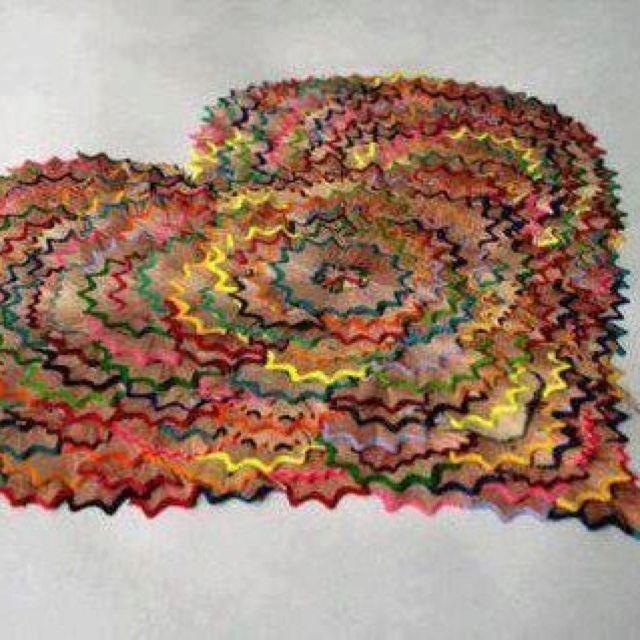Colored pencil shavings art ( Heart)